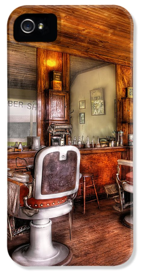 Barber IPhone 5 / 5s Case featuring the photograph Barber - The Barber Shop II by Mike Savad