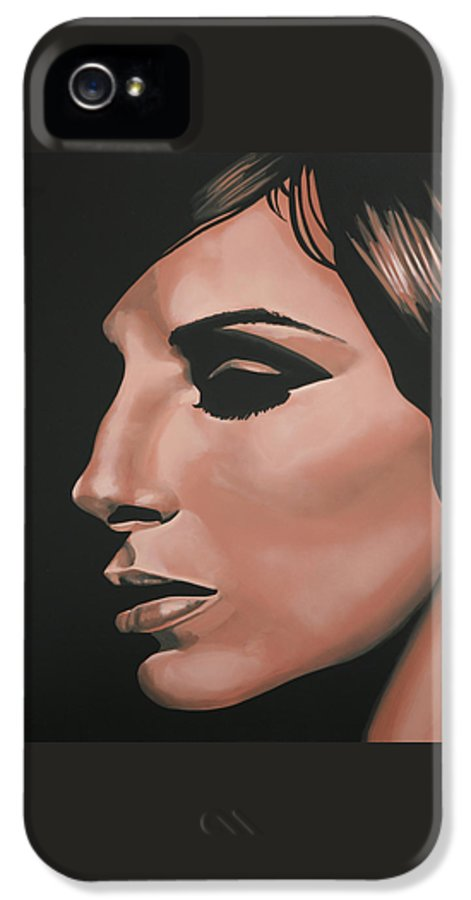 Barbra Streisand IPhone 5 / 5s Case featuring the painting Barbra Streisand by Paul Meijering