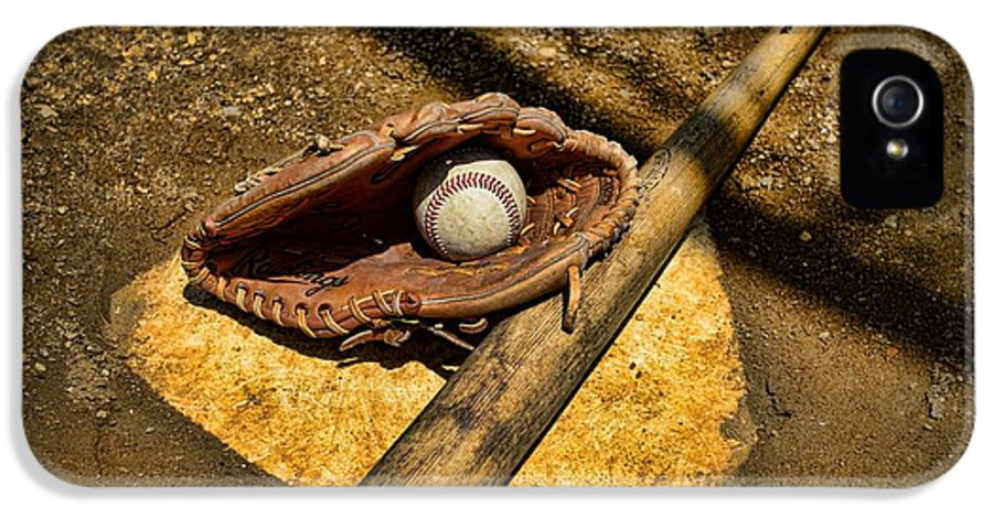 Paul Ward IPhone 5 / 5s Case featuring the photograph Baseball Home Plate by Paul Ward