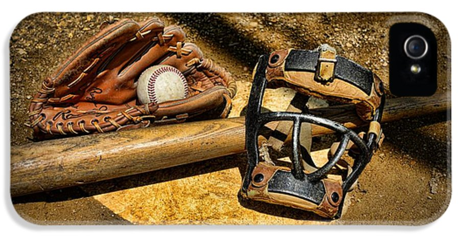 Paul Ward IPhone 5 / 5s Case featuring the photograph Baseball Play Ball by Paul Ward