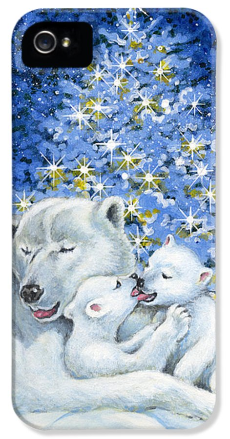 Christmas IPhone 5 / 5s Case featuring the painting Bear Hug by Richard De Wolfe
