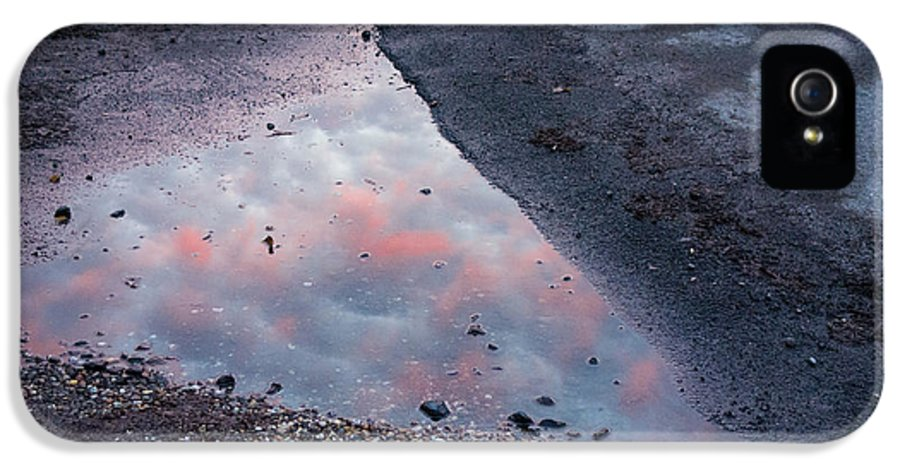 Grey IPhone 5 / 5s Case featuring the photograph Beauty Is Everywhere - Sky Reflected In Puddle Of Water by Matthias Hauser