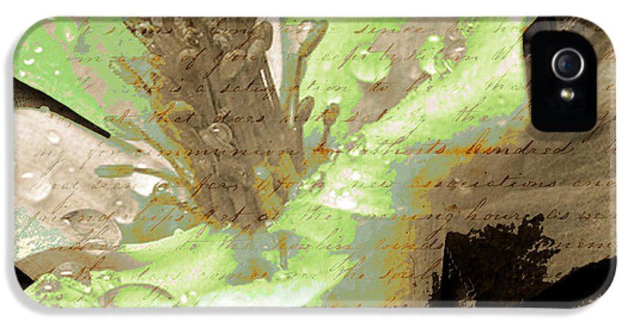 IPhone 5 / 5s Case featuring the mixed media Beauty Viii by Yanni Theodorou