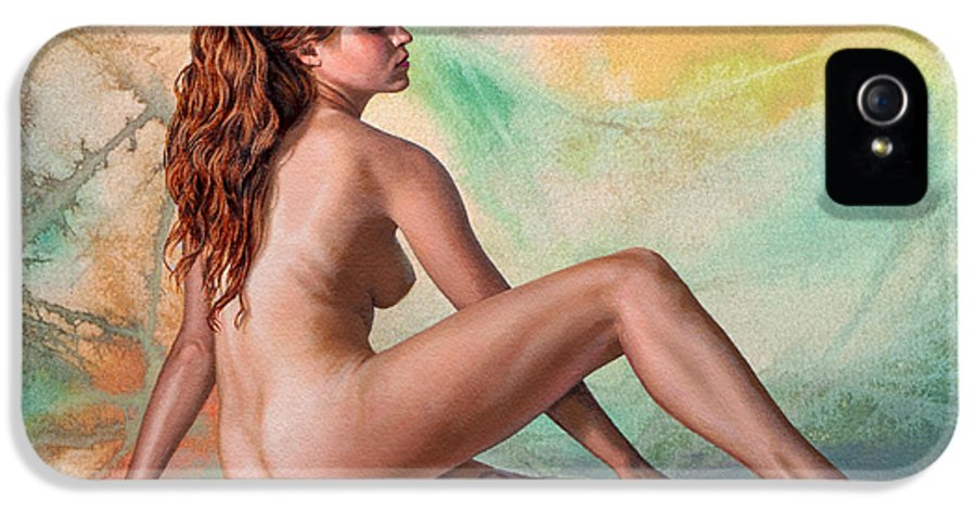 Figure IPhone 5 / 5s Case featuring the painting Becca 023 In Abstract by Paul Krapf