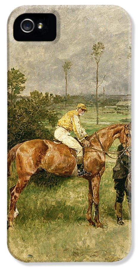 Avant Le Depart IPhone 5 / 5s Case featuring the painting Before The Start by John Lewis Brown