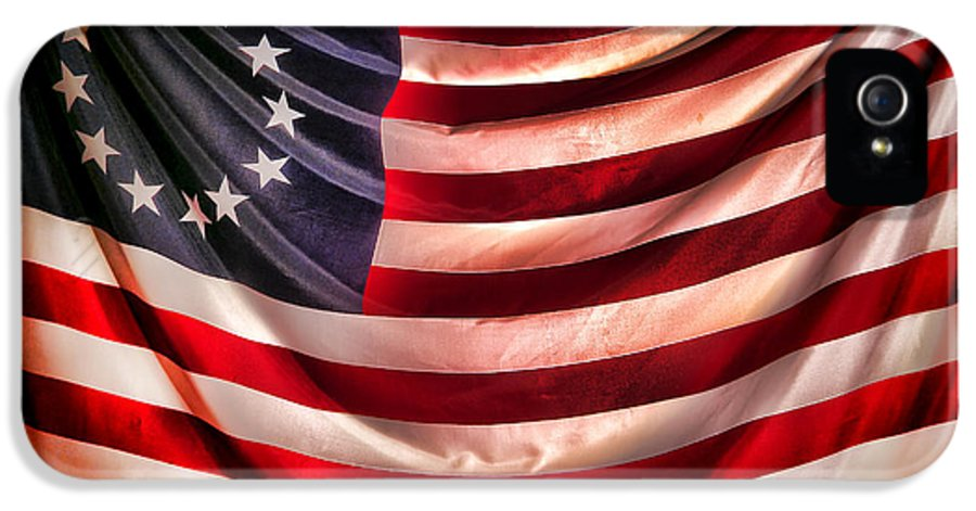 Flag IPhone 5 / 5s Case featuring the photograph Betsy Ross Flag by Olivier Le Queinec