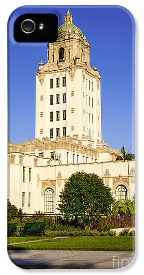America IPhone 5 / 5s Case featuring the photograph Beverly Hills Police Station by Paul Velgos