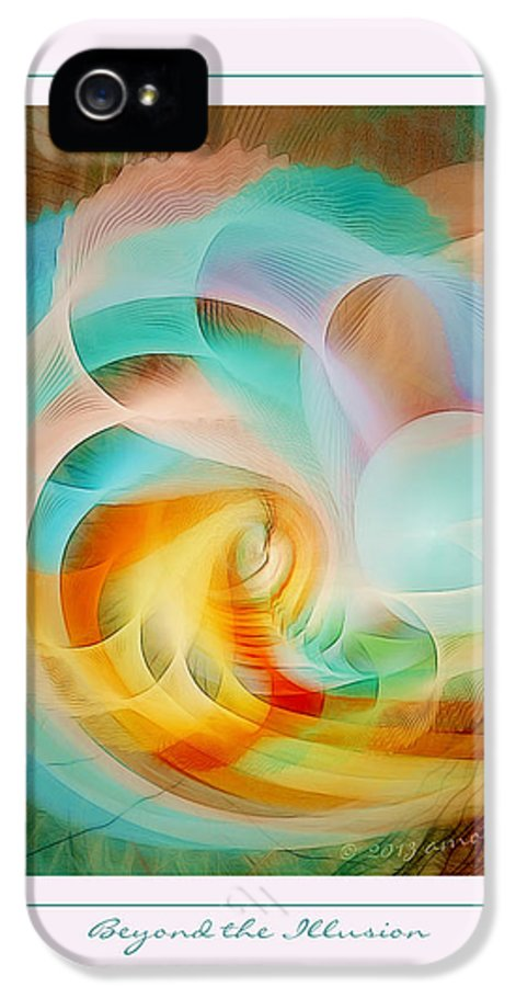 Fractal IPhone 5 / 5s Case featuring the digital art Beyond The Illusion by Gayle Odsather