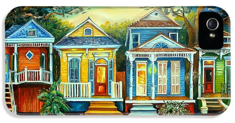New Orleans IPhone 5 / 5s Case featuring the painting Big Easy Moon by Diane Millsap