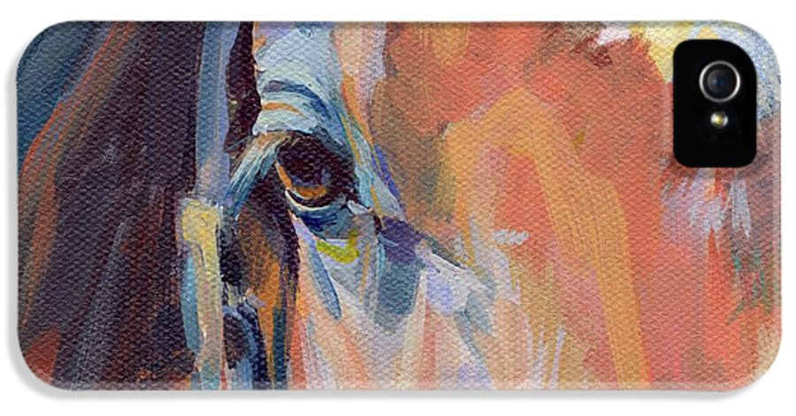 Thoroughbred IPhone 5 / 5s Case featuring the painting Billy by Kimberly Santini