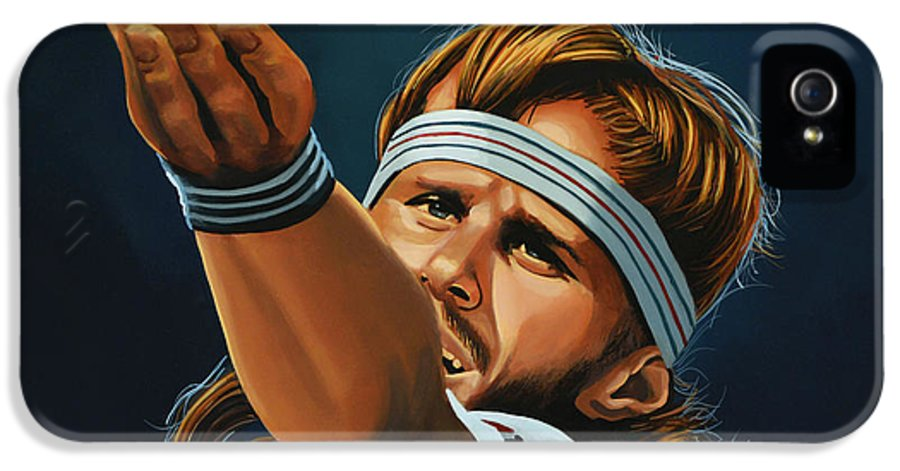 Bjorn Borg IPhone 5 / 5s Case featuring the painting Bjorn Borg by Paul Meijering