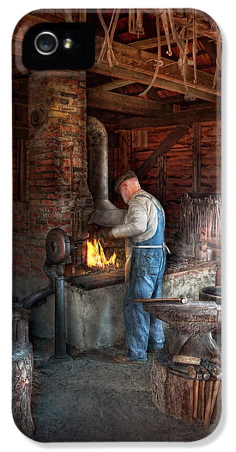 Blacksmith IPhone 5 / 5s Case featuring the photograph Blacksmith - The Importance Of The Blacksmith by Mike Savad