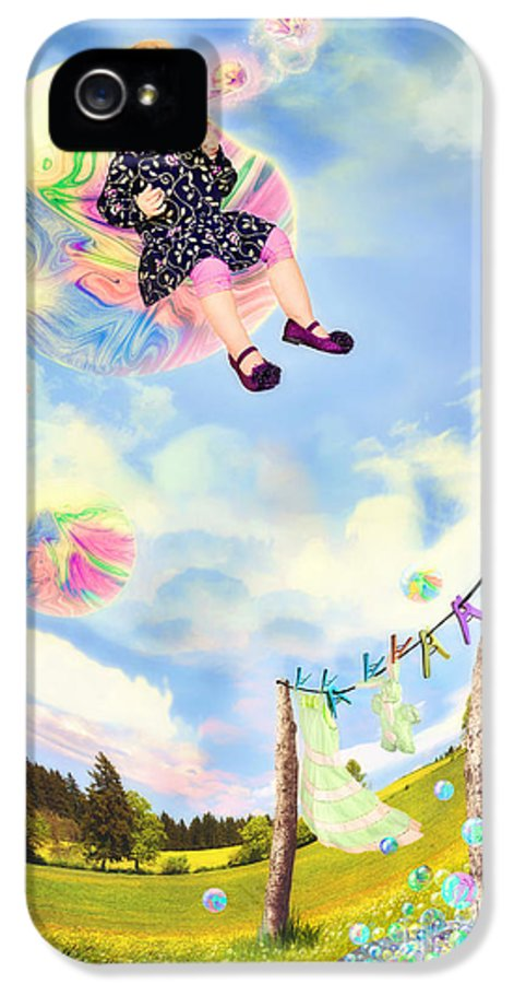 Bubble IPhone 5 / 5s Case featuring the photograph Blowing Bubbles by Fairy Tales Imagery Inc