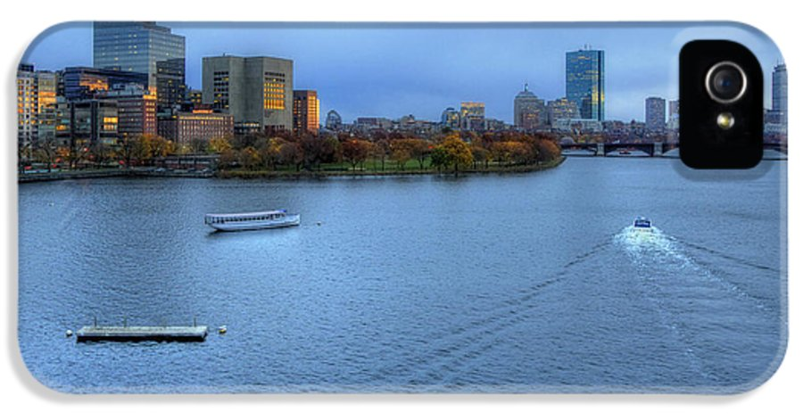 Boston IPhone 5 / 5s Case featuring the photograph Blue Hour On The Charles by Joann Vitali