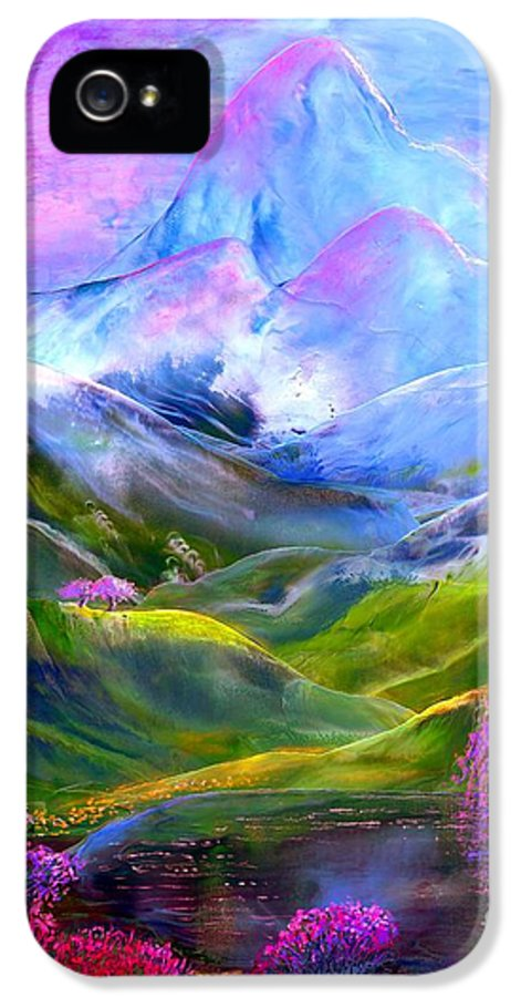 Mountain IPhone 5 / 5s Case featuring the painting Blue Mountain Pool by Jane Small