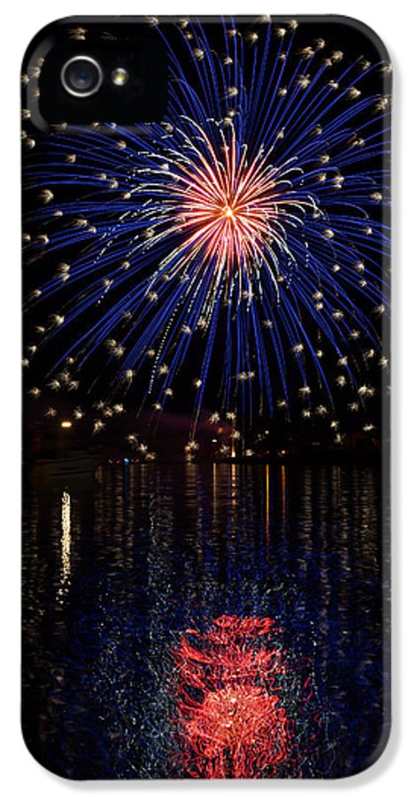 Fireworks IPhone 5 / 5s Case featuring the photograph Blue Spectacular by Bill Pevlor