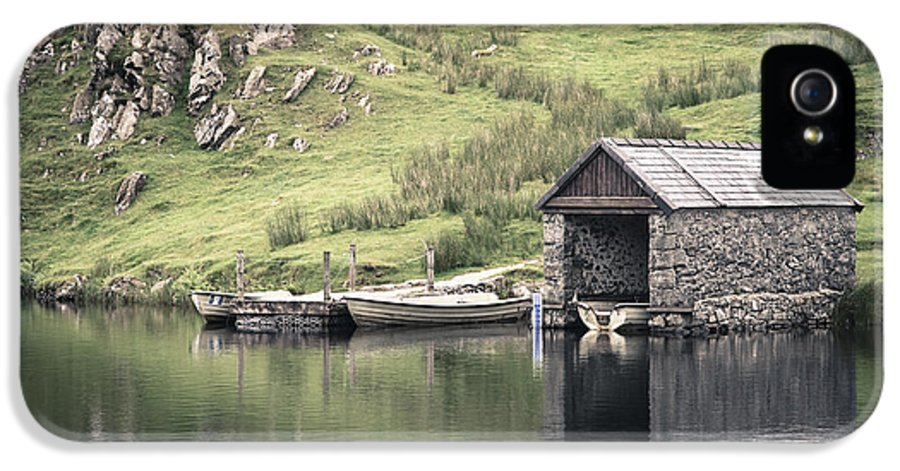Boat IPhone 5 / 5s Case featuring the photograph Boathouse by Jane Rix