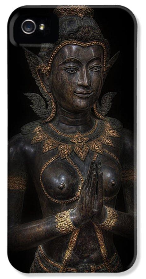 Buddha IPhone 5 / 5s Case featuring the digital art Bodhisattva Princess by Daniel Hagerman