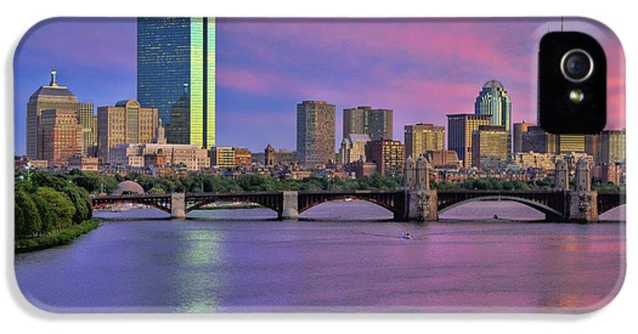 Boston IPhone 5 / 5s Case featuring the photograph Boston Pastel Sunset by Joann Vitali