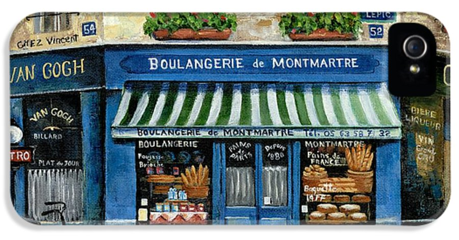 Europe IPhone 5 / 5s Case featuring the painting Boulangerie De Montmartre by Marilyn Dunlap