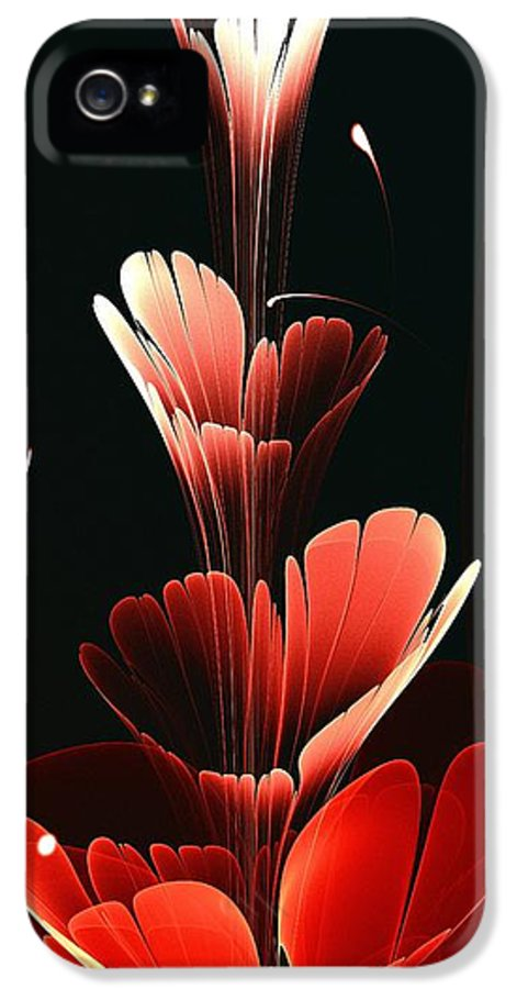 Plant IPhone 5 / 5s Case featuring the digital art Bright Red by Anastasiya Malakhova