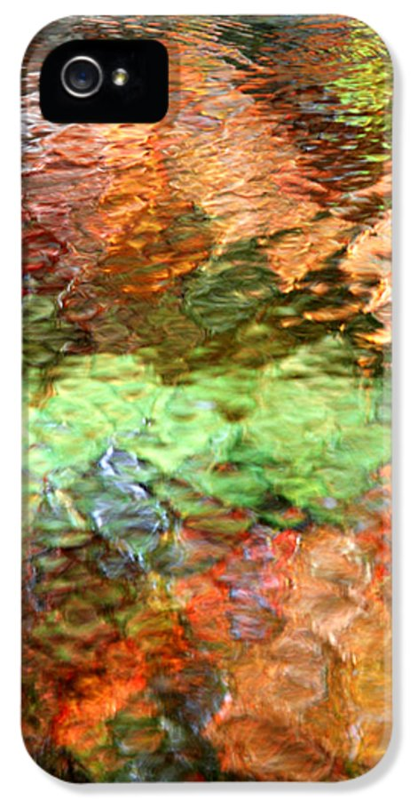 Abstract IPhone 5 / 5s Case featuring the photograph Brilliance by Christina Rollo