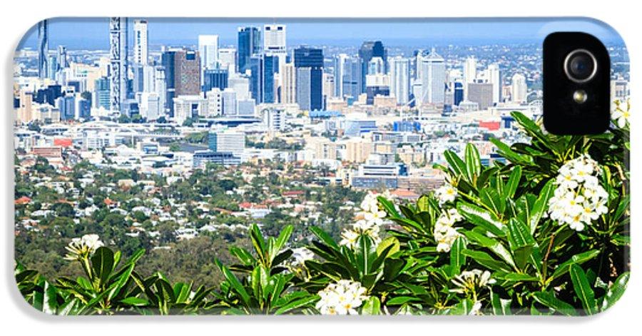Australia IPhone 5 / 5s Case featuring the photograph Brisbane Cbd by Peta Thames
