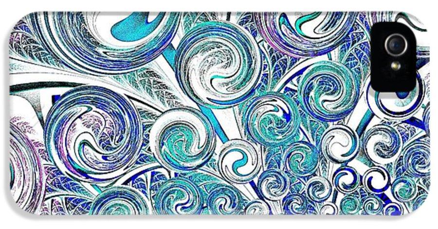 Malakhova IPhone 5 / 5s Case featuring the digital art Bubbles by Anastasiya Malakhova