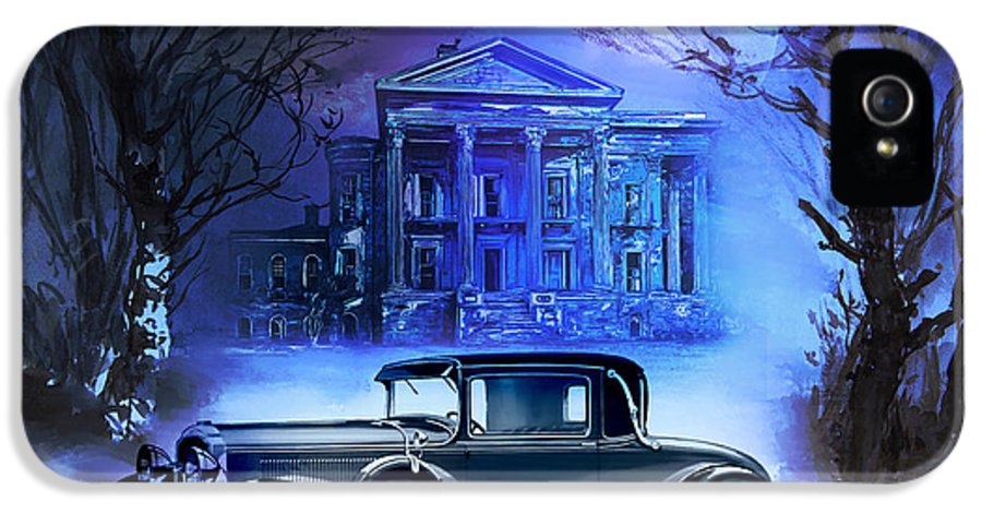 IPhone 5 / 5s Case featuring the painting Buick 1930 by Andrzej Szczerski