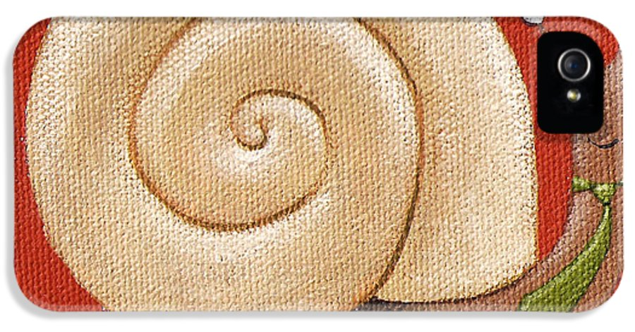 Snail IPhone 5 / 5s Case featuring the painting Business Snail Painting by Christy Beckwith