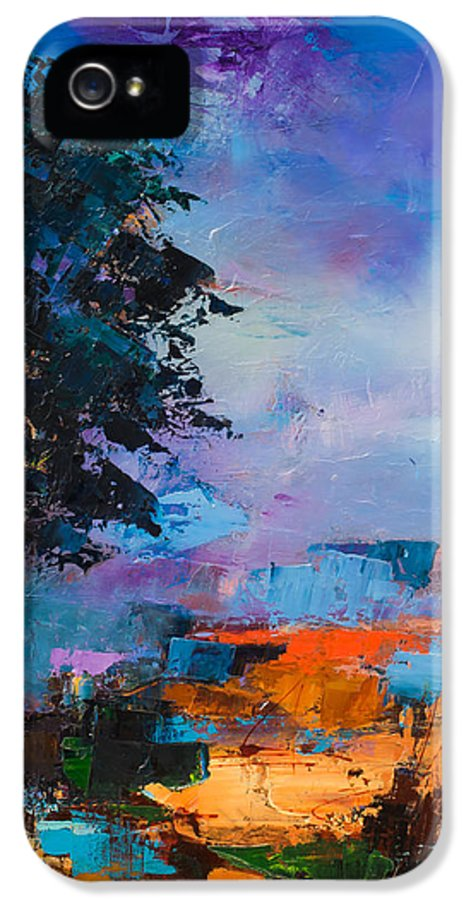 Elise Palmigiani IPhone 5 / 5s Case featuring the painting By The Canyon by Elise Palmigiani