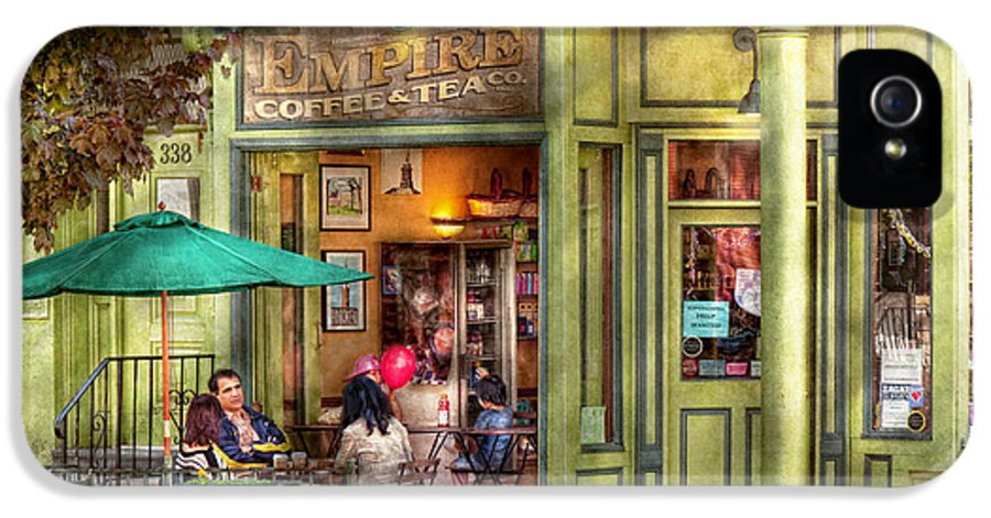 Hoboken IPhone 5 / 5s Case featuring the photograph Cafe - Hoboken Nj - Empire Coffee And Tea by Mike Savad