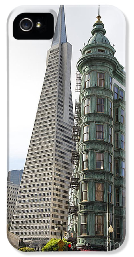 North Beach IPhone 5 / 5s Case featuring the photograph Cafe Zoetrope And Transamerica Bldg by David Bearden