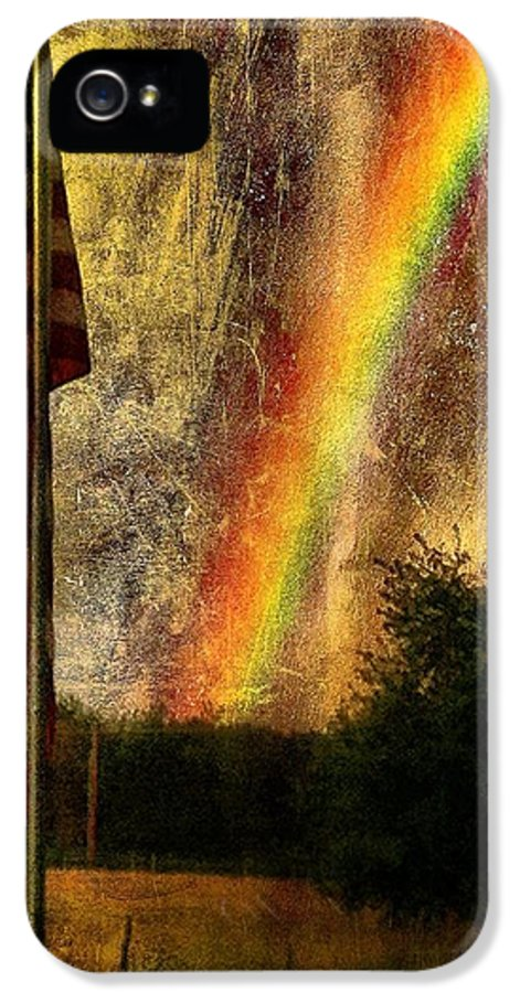 Flag IPhone 5 / 5s Case featuring the photograph Calm by Justin Ivins