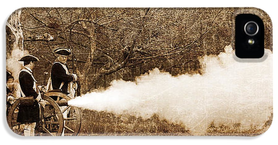 War IPhone 5 / 5s Case featuring the photograph Cannon Fire by Mark Miller