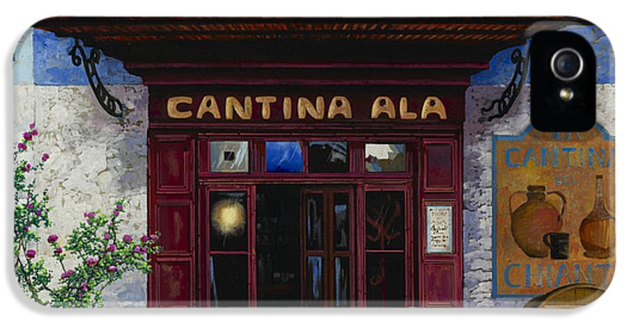 Cantina IPhone 5 / 5s Case featuring the painting cantina Ala by Guido Borelli