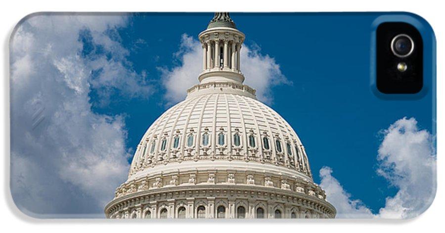 U IPhone 5 / 5s Case featuring the photograph Capital Dome Washington D C by Steve Gadomski