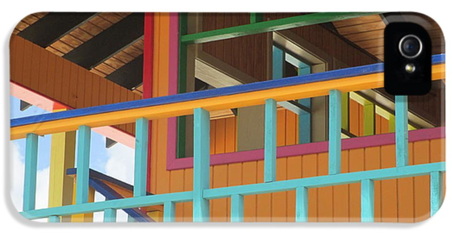 Caribbean Corner IPhone 5 / 5s Case featuring the photograph Caribbean Railings by Randall Weidner