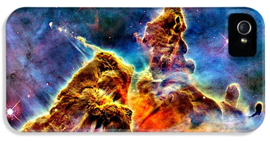 Astronomy IPhone 5 / 5s Case featuring the photograph Carina Pillar by Benjamin Yeager