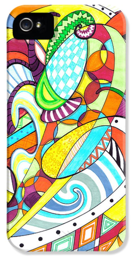 Carnival IPhone 5 / 5s Case featuring the drawing Carnival by Shawna Rowe
