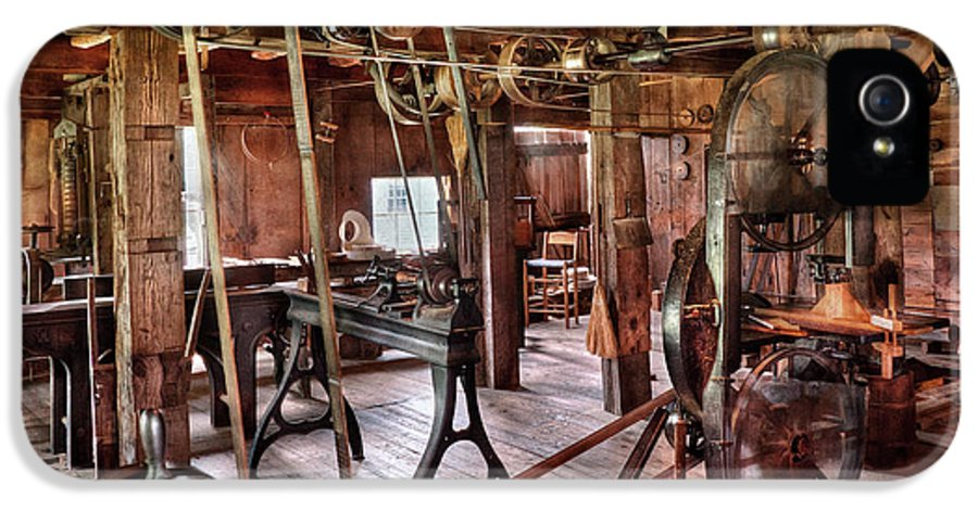Quaint IPhone 5 / 5s Case featuring the photograph Carpenter - This Old Shop by Mike Savad