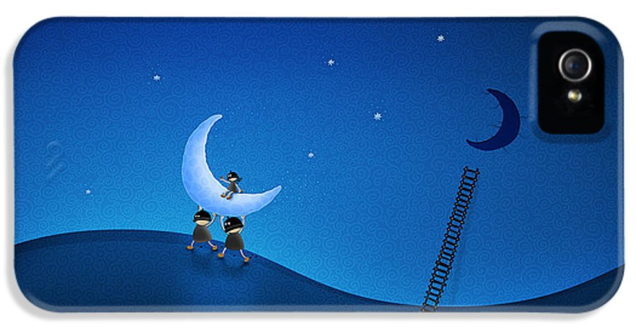 Carry IPhone 5 / 5s Case featuring the digital art Carry The Moon by Gianfranco Weiss