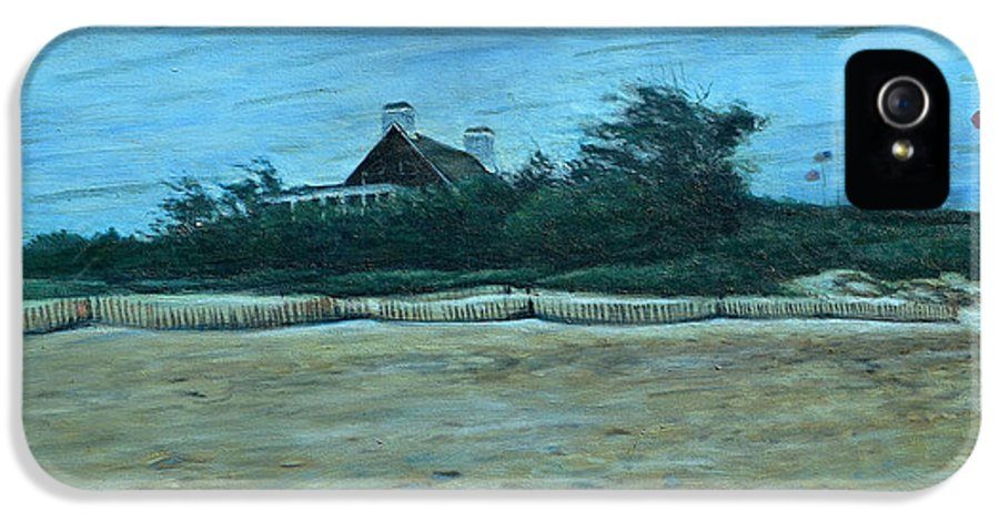 Chatham IPhone 5 / 5s Case featuring the painting Chatham Lighthouse by Erik Schutzman