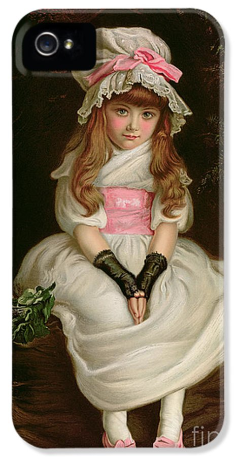 Child IPhone 5 / 5s Case featuring the painting Cherry Ripe by Sir John Everett Millais