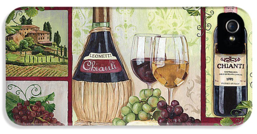 Wine IPhone 5 / 5s Case featuring the painting Chianti And Friends 2 by Debbie DeWitt