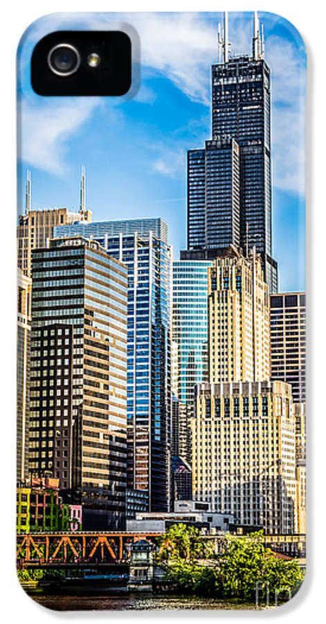 America IPhone 5 / 5s Case featuring the photograph Chicago High Resolution Picture by Paul Velgos