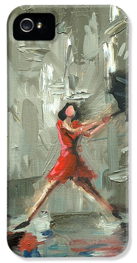 Chicago IPhone 5 / 5s Case featuring the painting Chicago One by Luis Navarro