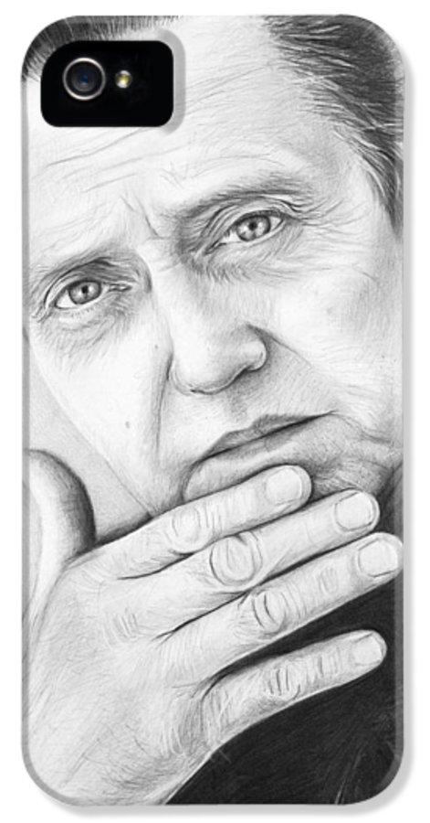 Christopher Walken IPhone 5 / 5s Case featuring the drawing Christopher Walken by Olga Shvartsur