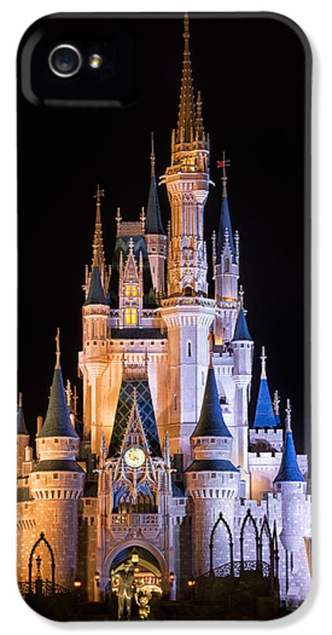 3scape Photos IPhone 5 / 5s Case featuring the photograph Cinderella's Castle In Magic Kingdom by Adam Romanowicz