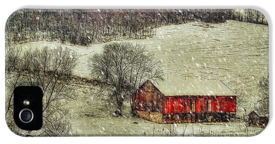 Red Barn IPhone 5 / 5s Case featuring the photograph Circa 1855 by Lois Bryan